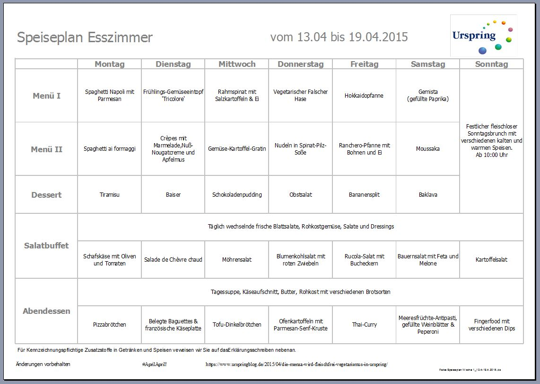 Fake-Speiseplan Woche 1_13.4-19.4.2015