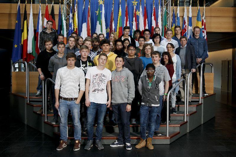 Visitors group in Strasbourg Evelyne GEBHARDT